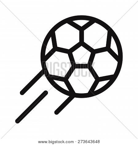 Football Icon Isolated On White Background. Football Icon In Trendy Design Style. Football Vector Ic