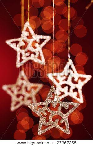 Gold stars  over festive  background