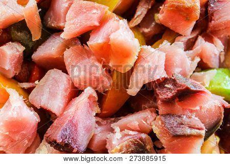 Bonito Dish Detail Food Surface Eating Closeup poster