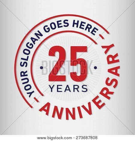 25 Years Anniversary Logo. 25th Vector And Illustration.
