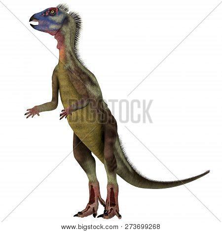 Hypsilophodon Dinosaur On White 3d Illustration - Hypsilophodon Was A Omnivorous Ornithopod Dinosaur