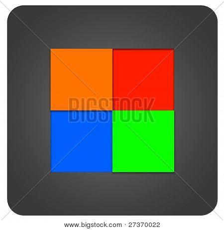 Four square icon