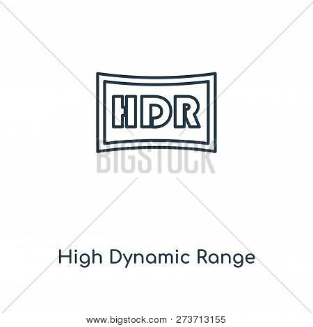 High Dynamic Range Imaging Icon In Trendy Design Style. High Dynamic Range Imaging Icon Isolated On