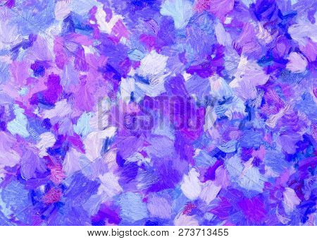 Blue And Purple  Abstract For Background And Texture,colorful Abstract.blue And Purple Oil Painting