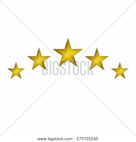 Collection Of Star Color Vector Logo, Star Abstract Color Icon, Star Rating, Ranking. The Astrologic
