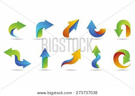 Arrow Vector Logo Collection With Colorful Style. Arrow Icon. Arrow Vector Icon. Business Arrow Logo
