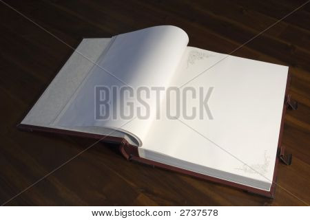 Open Book - Blank Pages