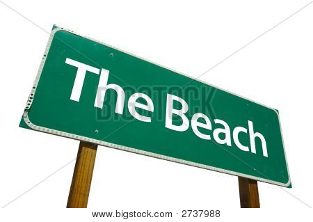 The Beach  - Road Sign