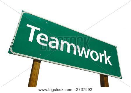 Teamwork - Road-Sign.