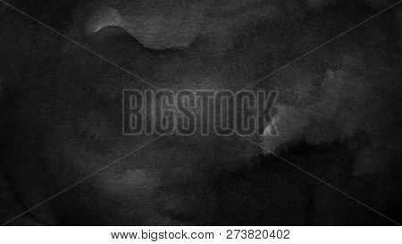 Black And White Dark Abstract Watercolor Background For Textures Backgrounds And Web Banners Design