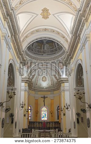 San Juan, Puerto Rico -august 4, 2018: Interior Of Landmark Metropolitan Cathedral Basilica Of Saint