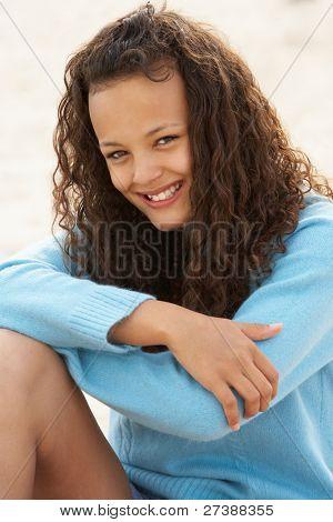 Portrait teenage girl outdoors