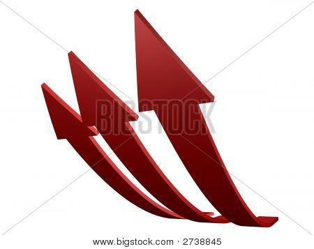 Rote Pfeile oben