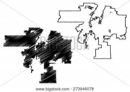 Albuquerque City (united States Cities, United States Of America, Usa City) Map Vector Illustration,