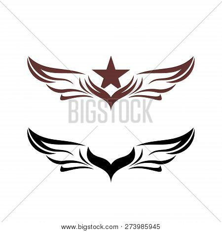 Wings Vector Graphic Vector Photo Free Trial Bigstock