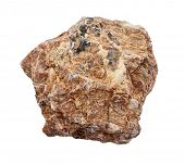 stone Granite,isolated on white poster