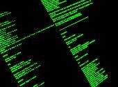 Computer Command Line Interface. CLI. UNIX bash shell, close up poster