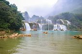 Ban Gioc Waterfall or Detian Falls, Vietnam's best-known waterfall located in Cao bang Border with China poster