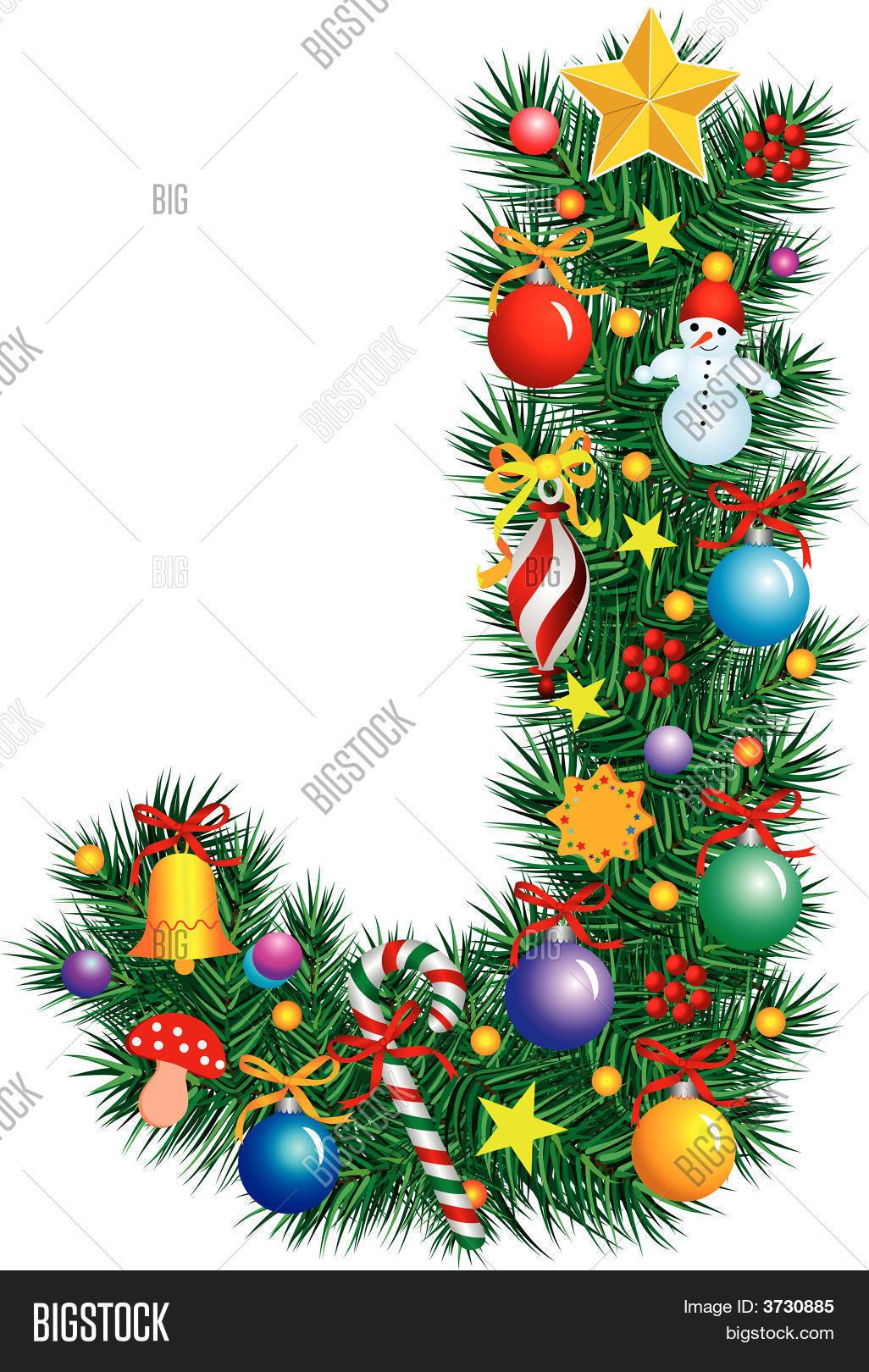 alphabet letter j christmas decoration