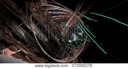 3D rendering of digital technology concept ready for banner background