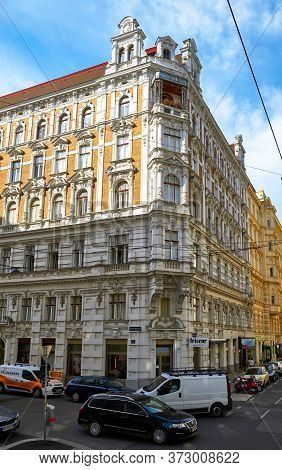 Vienna, Austria - September 2018: Impressive Old Architecture At The City Streets