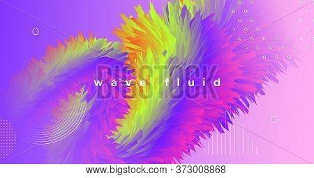 Dynamic Color Fluid. 3d Concept. Gradient Motion. Vector Geometric Cover. Modern Movement. Wave Colo