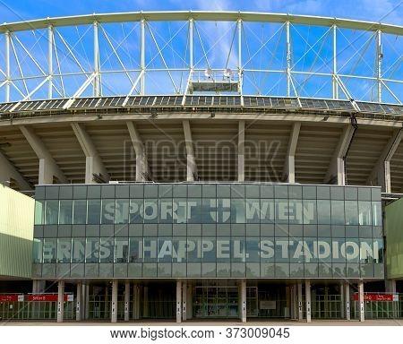 Vienna, Austria - September 2018: View On Ernst Happel Stadium