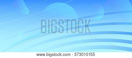 Blue Gradient Background. 3d Fluid Lines Pattern. Vector Business Movement. Light Geometric Illustra