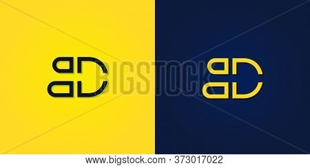 Minimalist Abstract Initial Letter Bd Logo. It Will Be Suitable For Which Company Or Brand Name Star