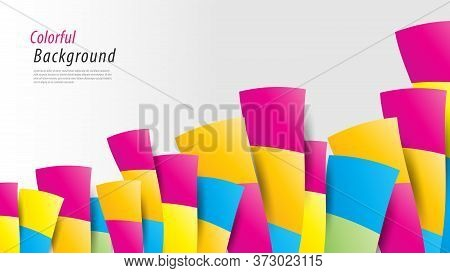 Colorful Abstract Background. Vector Multicolored Background For Cover, Book, Banner, Web Page, Post