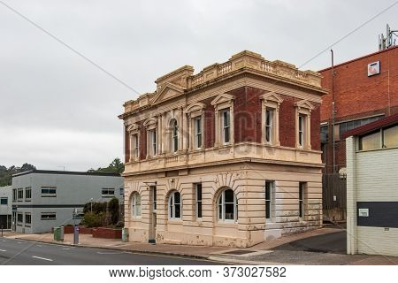 Burnie, Tasmania, Australia - March 1, 2020: Traditional Building At Marine St At The City Centre In