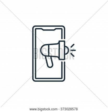 advertising icon isolated on white background from  collection. advertising icon trendy and modern a