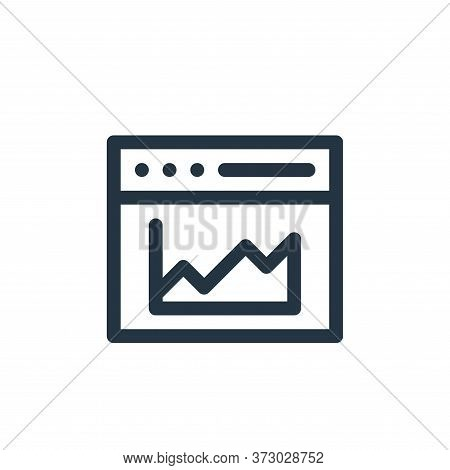 analytics icon isolated on white background from  collection. analytics icon trendy and modern analy