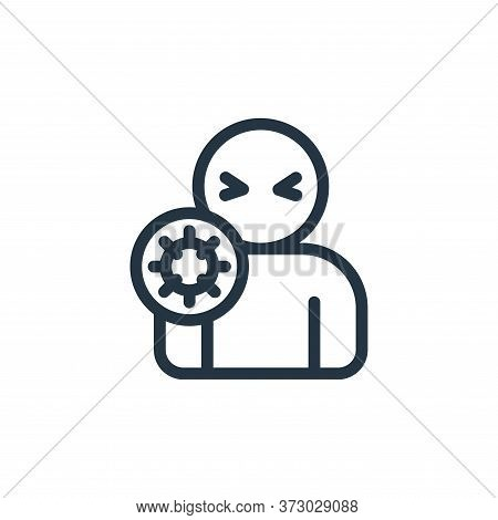sickness icon isolated on white background from  collection. sickness icon trendy and modern sicknes