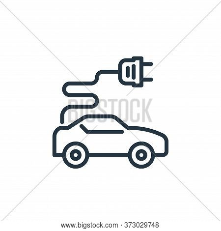 electric car icon isolated on white background from  collection. electric car icon trendy and modern