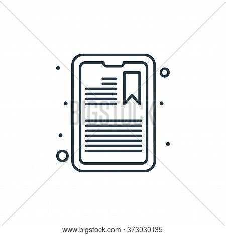 tablet icon isolated on white background from  collection. tablet icon trendy and modern tablet symb