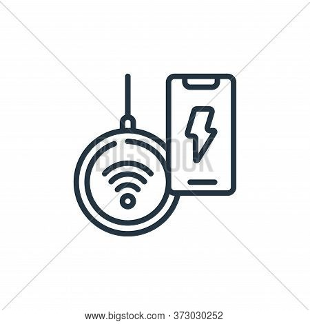 wireless charging icon isolated on white background from  collection. wireless charging icon trendy