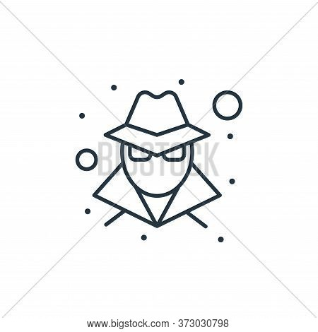 hacker icon isolated on white background from  collection. hacker icon trendy and modern hacker symb