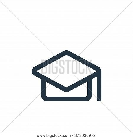 Mortarboard Vector Icon Isolated On White Background.