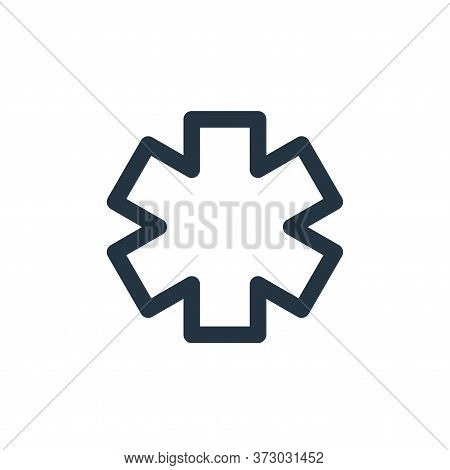 Paramedic Vector Icon Isolated On White Background.