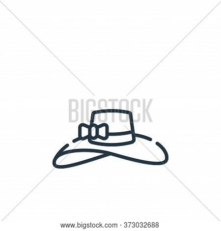 pamela hat icon isolated on white background from  collection. pamela hat icon trendy and modern pam