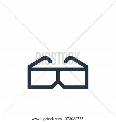 d glasses icon isolated on white background from  collection. d glasses icon trendy and modern d gla
