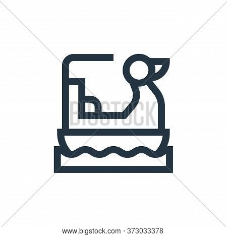 Pedal Boat Vector Icon Isolated On White Background.