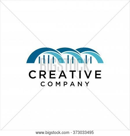 Bridge Logo Template Vector Icon Illustration Design, Bridge Vector Logo Graphic Modern