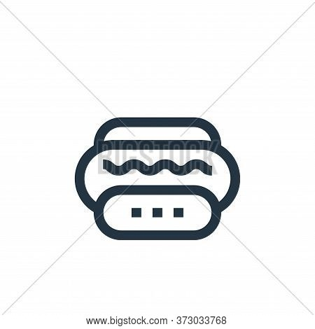 hot dog icon isolated on white background from  collection. hot dog icon trendy and modern hot dog s