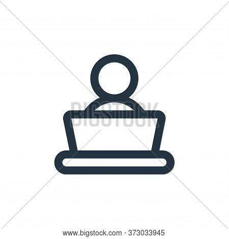 work icon isolated on white background from  collection. work icon trendy and modern work symbol for