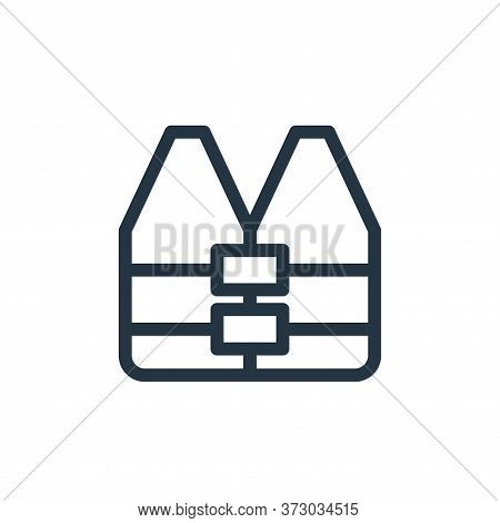 life vest icon isolated on white background from  collection. life vest icon trendy and modern life