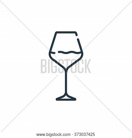 wine glass icon isolated on white background from  collection. wine glass icon trendy and modern win