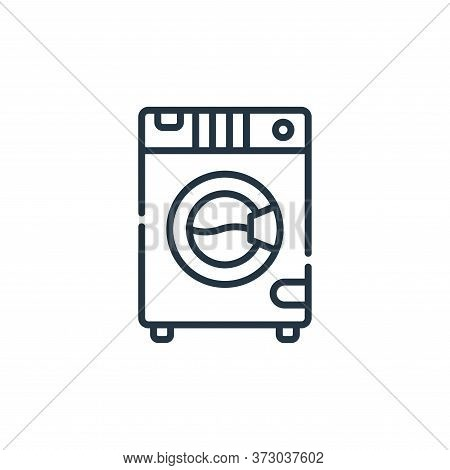 washing machine icon isolated on white background from  collection. washing machine icon trendy and