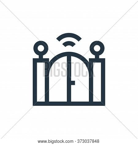 gate icon isolated on white background from  collection. gate icon trendy and modern gate symbol for
